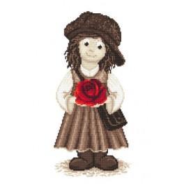Děvčátko Gavroche - Předtištěná aida