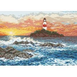 Skalnaté pobřeží - Předtištěná aida