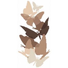 Motýli v sépie - Předtištěná aida