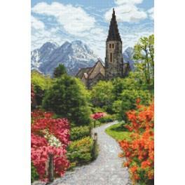 Alpský park - Předtištěná aida
