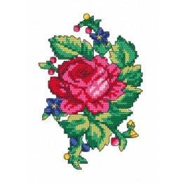 Lidový květinový motiv - Předtištěná aida