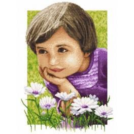 Idylické dětství - Předtištěná aida