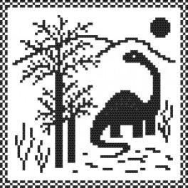 Dino - Předtištěná aida
