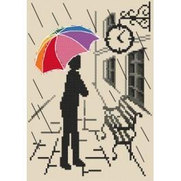 Barevný deštník - Již brzy - Předtištěná aida