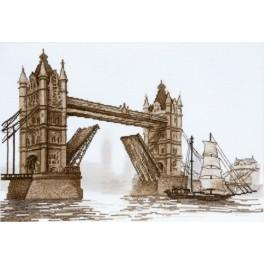 Vyšívací sada - Londýn. Tower Bridge
