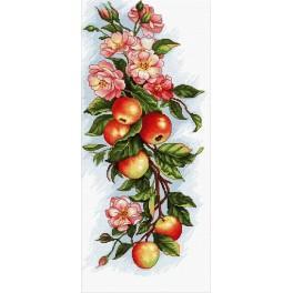 Zestaw z muliną - Kompozycja z jabłkami