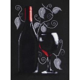 Zestaw z muliną - Butelka czerwonego wina