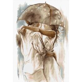 Vyšívací sada - Pod deštníkem