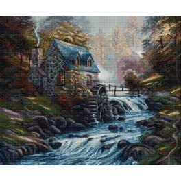 Vyšívací sada - Vodní mlýn