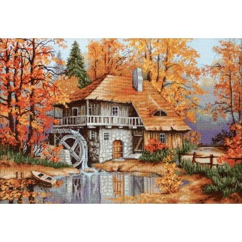 Vyšívací sada - Podzimní krajina