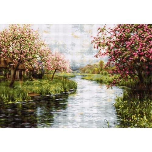Vyšívací sada - Jarní krajinka