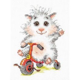 Vyšívací sada - Křeček na kole