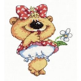 MN 26-01 Vyšívací sada - Medvídek - holčička