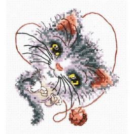 Vyšívací sada - Kočička