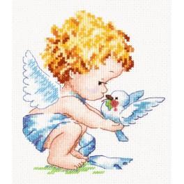 MN 35-13 Vyšívací sada - Světlý andělíček