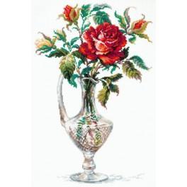 MN 40-65 Vyšívací sada - Červená růže