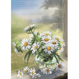 Zestaw z muliną - Kwiaty rumianku