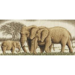 PAJ 0596 Vyšívací sada - Sloní rodina