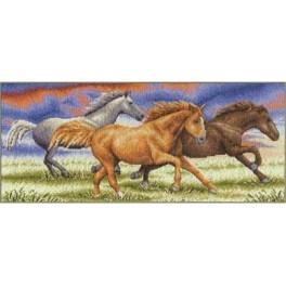 PAJ 0679 Vyšívací sada - Klus koně