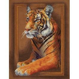 PAJ 0966 Vyšívací sada - Soustředěný Tygr