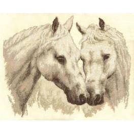 PAJ 1066 Vyšívací sada - Bílí koně