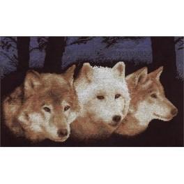 Vyšívací sada - Vlci