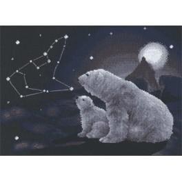 PAJ 0344 Vyšívací sada - Polární noc