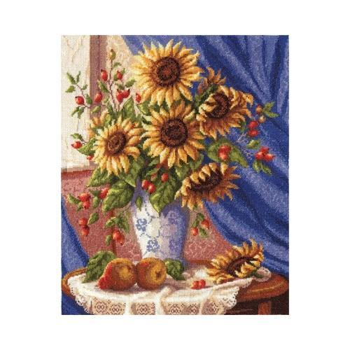 Vyšívací sada - Sluneční kytice