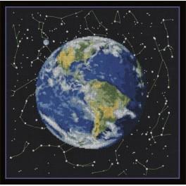 Vyšívací sada - Planeta Země
