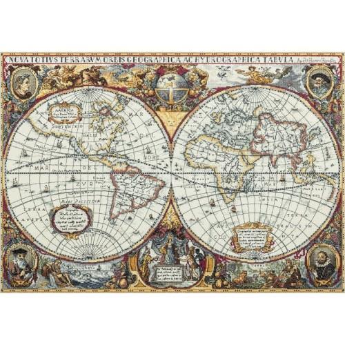 Vyšívací sada - Mapa světa