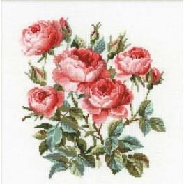RIO 1046 Vyšívací sada - Růžová zahrada
