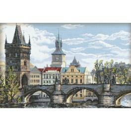 Vyšívací sada - Karlův most - Praha