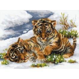 Vyšívací sada - Malé tygry
