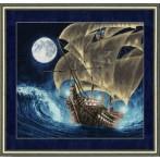 Vyšívací sada - Loď na moři