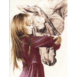 RSV 016 Vyšívací sada - Holčička s koněm