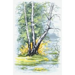 Zestaw z muliną - Wiosenne brzozy