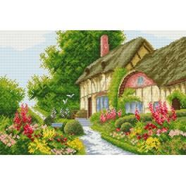 Zestaw z muliną - Domek w kwiatach