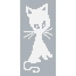 Zestaw z muliną - Biały kotek