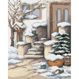 Zestaw z muliną - Zimowy ganek