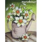Z 4855 Vyšívací sada - Narcisy v konvičce