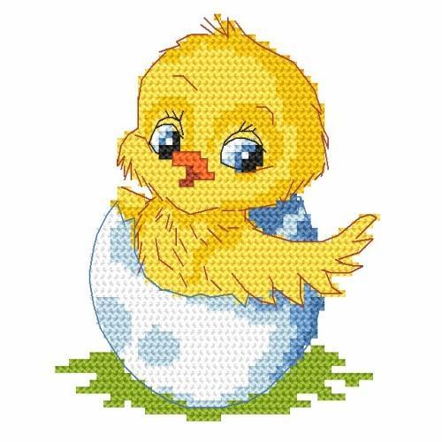 Z 8351-02 Vyšívací sada - Velikonoční kuřátko