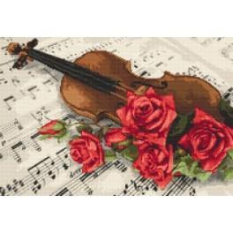 Vyšívací sada - Zátiší s houslemi