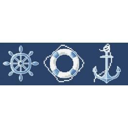 Vyšívací sada - Námořnické motivy