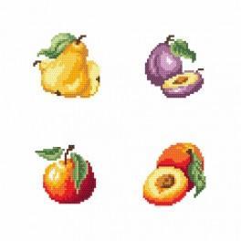 Vyšívací sada - Na stánku - Ovoce