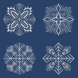 Vyšívací sada - Sněhové vločky