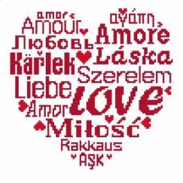 Vyšívací sada - Love