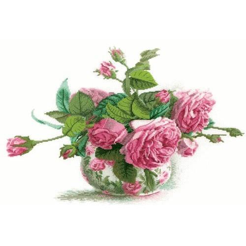 ZTM 202 Vyšívací sada - Růže vkvětináči