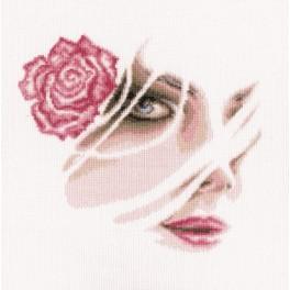 ZTM 567 Vyšívací sada - Barevná růže