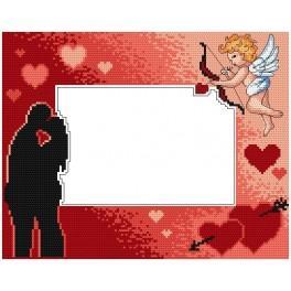 Vyšívací sada - Valentýnský rámeček s Cherubíny