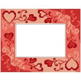 Vyšívací sada - Valentýnský rámeček se srdci